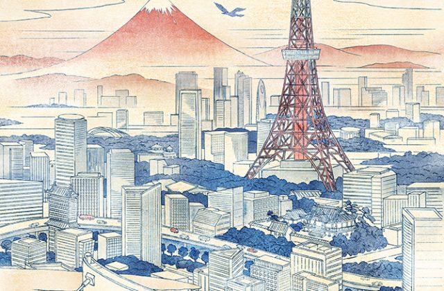 江戸・東京の浮世絵風イラスト