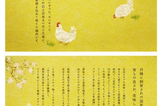 日本画で描いた鶏のイラスト
