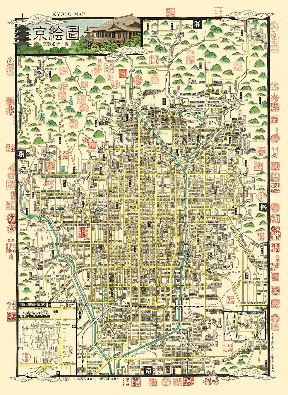 和紙絵地図