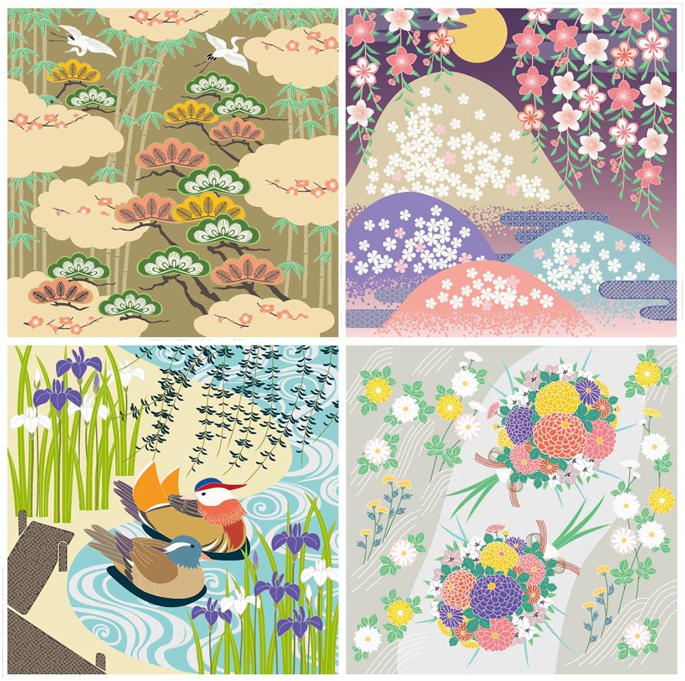 日本の伝統文様と伝統色